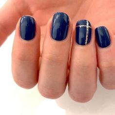 What is on your wish list this year? Other than this mani obvi. We posted some of our favs in IGS, comment and let us know what we missed… Blue Gold Nails, Navy Nails, Navy Nail Art, Navy Nail Polish, Prom Nails, Wedding Nails, Long Nails, Long Nail Designs, Navy Nail Designs