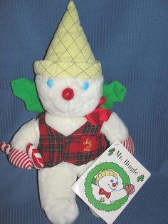 "Mr. Bingle 17"" Big Plush Christmas New Orleans Snowman 1996 Tags"