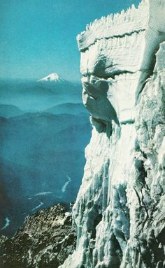Glacier National Park in Washington State, Mt. Rainier in the distance, National Geographic, April 1960 Places In Usa, Places To Visit, National Geographic, Evergreen State, Explorer, Washington State, Pacific Northwest, State Parks, Wa State
