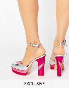 2b61b0adcf5 Terry de Havilland Direction Pink Heeled Shoes Gem And The Holograms