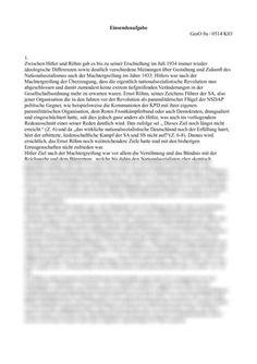 Einsendeaufgabe ILS GesO8a-0514-K03: Der Aufstieg und die Machtergreifung der Nationalsozialisten in Deutschland -  Einsendeaufgabe  ILS/SGD Geschichte / Historik High School Graduation, Authors, History, Germany