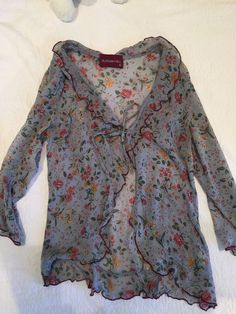 Alannah Hill Pure Silk Floral Cardigan Size 8