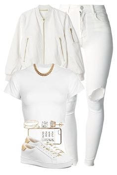 All White - BDay Set For @Zoria-mh by cheerstostyle on Polyvore featuring polyvore, fashion, style, Motel, (+) PEOPLE, MICHAEL Michael Kors, NLY Accessories, Nordstrom Rack and River Island
