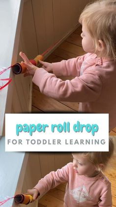 Paper Roll Drop Toddler Activity - How Wee Learn
