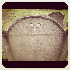 really old headstones in boston. i like the design at the top a lot!