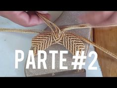 Sandalia color oro - YouTube Macrame Art, Macrame Knots, Micro Macrame, Macrame Jewelry, Crochet Shoes, Crochet Slippers, Rope Crafts, Diy And Crafts, Macrame Wall Hanger