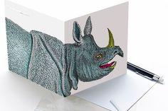 6 Funky Wildlife Greetings Cards (Mammal Set 2) by Pinchuck