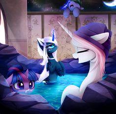 my little pony spa fanart My Little Pony Cartoon, My Little Pony Drawing, My Little Pony Pictures, Princesa Celestia, Celestia And Luna, Equestria Girls, My Little Pony Wallpaper, Imagenes My Little Pony, Little Poni