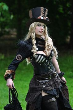 Steampunk.. Karen is going to make this for me after dress