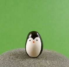 Little Penguin - Hand Sculpted Miniature Polymer Clay Animal