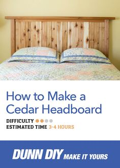 Here's the perfect solution to spruce up your guest room just in time for the holidays—a beautiful DIY cedar headboard.