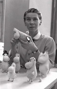 Tove Jansson - one of my all time favorite children's book authors! I have read (and still have most) of the Moonmin Family books!