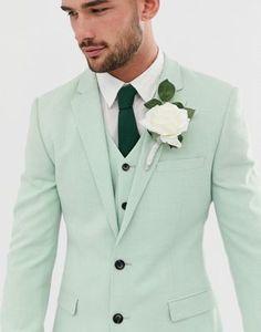 ASOS DESIGN wedding super skinny suit jacket in green cross hatch | ASOS Casual Wedding Suit, Green Wedding Suit, Wedding Men, Wedding Suits, Wedding Ideas, Green Suit Men, Green Suit Jacket, Mens Suits For Sale, Skinny Suits