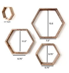 diy home decor - Rustic Hexagon Wood Shelves (Set of Honeycomb Shelves Geometric Shelves Wood Shelf 100 Percent Reclaimed Wood, Weathered Gray Geometric Shelves, Honeycomb Shelves, Hexagon Shelves, Cheap Home Decor, Diy Home Decor, Diy Regal, Wall Shelves Design, Pallet Shelves, Pallet Desk