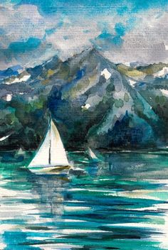 Boat Watercolour Painting from $34.99   www.wallartprints.com.au #WatercolourPainting