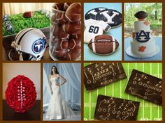 Football wedding theme