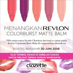 Share and WIN a Revlon Colorburst Matte Balm!