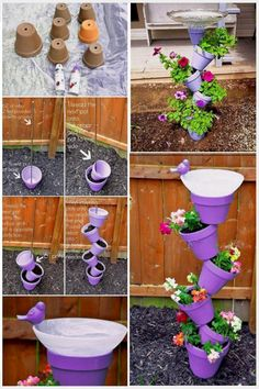 Garden Design & Decor Wicked Top Easy Diy Backyard Garden Projects to Beautify Your Garden decor Garden Yard Ideas, Diy Garden Projects, Garden Crafts, Diy Garden Decor, Garden Pots, Easy Garden, Creative Garden Ideas, Creative Crafts, Backyard Ideas