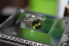 Peridot Ring 2cts CHRISTMAS Gift Idea size by KimberlysTreasure, $194.00 Peridot Engagement Rings, Rings For Men, Christmas Gifts, Gift Ideas, Unique Jewelry, Handmade Gifts, Etsy, Vintage, Xmas Gifts