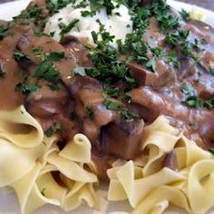 Portobello Mushroom Stroganoff Allrecipes.com