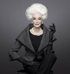 Carmen Dell'Orefice ~ 81 year old model walks the runway at New York Fashion Week