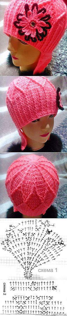 Детская шапочка крючком с рельефными столбиками от Елены Захватовой | ВЯЗАНИЕ ШАПОК: женские шапки спицами и крючком, мужские и детские шапки, вязаные сумки