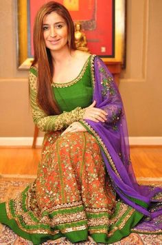 cloth, color combos, green, birthdays, colors, anarkali, suit, indian, design