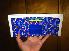Duck Tape Super Mario Bros. Tri-fold.