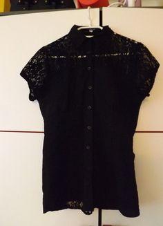 Kup mój przedmiot na #vintedpl http://www.vinted.pl/damska-odziez/bluzki-z-krotkimi-rekawami/13032814-czarna-bluzeczka-z-koronka