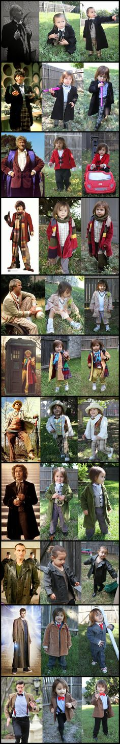 2-year-old girl dresses up as all 11 Doctors from Dr. Who #Halloween #2013