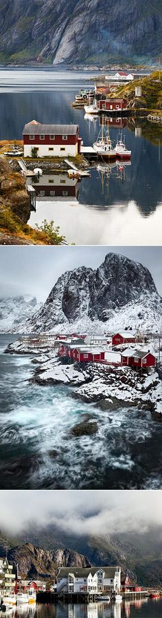 Can you almost feel the crisp Norwegian air pinching your  cheeks just by looking at those stunning photographs? (Lofoten Islands in Norway)