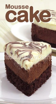 Sweet Desserts, Easy Desserts, Delicious Desserts, Muffins, Chocolate Desserts, Delicious Chocolate Cake, Homemade Cakes, Cheesecake Recipes, Dark Chocolate Mousse