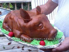 This is Louie – My Roasted Pig Cake! Mini Cakes, Cupcake Cakes, Cupcakes, Beautiful Cakes, Amazing Cakes, Pit Boys, Cool Birthday Cakes, Birthday Ideas, Pig Roast