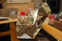 Decorative Origami Box with Lid
