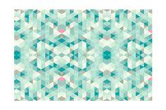 Vente TAPPETIUM / 20724 / Décoration et protection des sols / Géométrique / Tapis Triangle - Bleu et vert