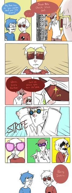 Homestuck. Dirk and Dave: being ironic