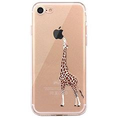 018bcea3b7 iPhone 7 Case JAHOLAN Amusing Whimsical Design Clear Bumper TPU Soft Case  Rubber Silicone Skin Cover