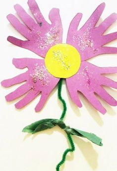 Kids Handprint Flower Craft #myperfectmothersday