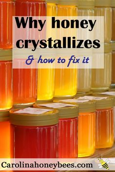 Why does honey crystallize and how to fix it.  Dont throw away good honey .  Carolina Honeybees Farm
