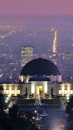 Griffith Park Observatory sits on the hills above Los Angeles, California.  Great place to visit!  Go to www.YourTravelVideos.com or just click on photo for home videos and much more on sites like this.
