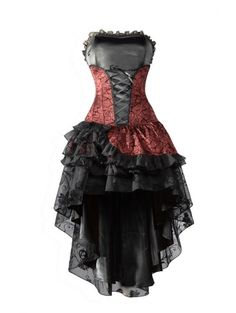Gallery For > Short Red Gothic Dress