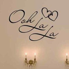 OOH LA LA Paris France Hearts Love Quote Vinyl Wall Decal Decor Art Sticker f  For my wall  Option 2