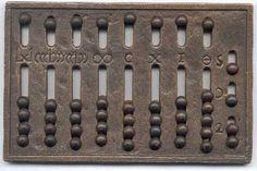 A Roman Abacus from nearly 1 Century CE.