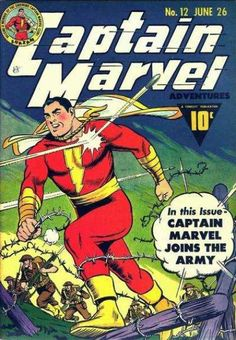 I can remember driving back from a comic store in Mason City, Iowa, with my first ever Fawcett comic book on the seat next to me. I was probably seventeen years old at the time, but I've alwa… Captain Marvel Shazam, Old Comic Books, Comic Book Covers, Old Comics, Vintage Comics, Vintage Books, Dc Comics Superheroes, Marvel Comics, Ms Marvel