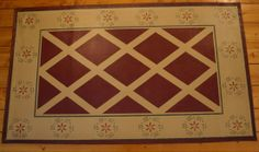 canvas floor cloths   This size floorcloth is perfect for a hallway, under a coffee table ...