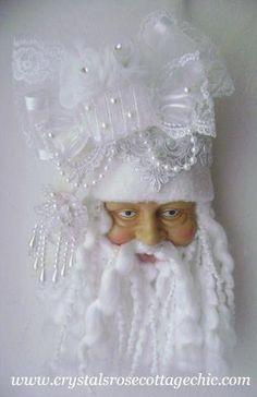 bridal white santa
