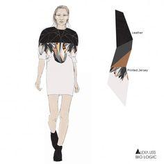"Fashion Portfolio - ""Bio Logic"" collection development; fashion design; fashion illustration; fashion sketchbook // Alexandra Liss"