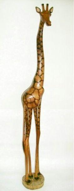 Mukwa Wood Giraffe From South Africa