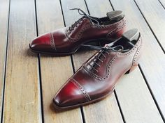 """Not Dorothy's shoes. Saint James II in deco last and color 8 Horween Shell Cordovan. """