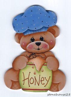 HP TEDDY BEAR Honey FRIDGE MAGNET #Handpainted